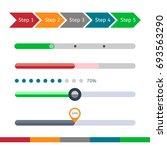 progress bar set. process... | Shutterstock . vector #693563290