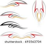 vehicle graphics  stripe  ... | Shutterstock .eps vector #693563704