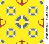 background on a marine theme... | Shutterstock .eps vector #693564064