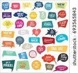abstract modern vector sticker... | Shutterstock .eps vector #693565843