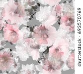 floral pattern tropical peony... | Shutterstock . vector #693570769