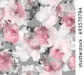 floral pattern tropical peony... | Shutterstock . vector #693570784
