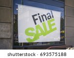 retail image of a final sale... | Shutterstock . vector #693575188