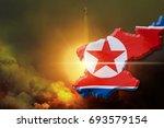north korea nuclear bomb test...   Shutterstock . vector #693579154