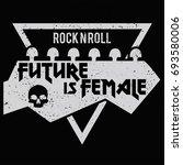 female fashion slogan. punk... | Shutterstock .eps vector #693580006