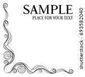 calligraphic design element.... | Shutterstock .eps vector #693582040