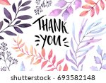 hand drawn watercolor... | Shutterstock . vector #693582148