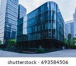 empty footpath in front of... | Shutterstock . vector #693584506