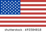 usa flag background. | Shutterstock . vector #693584818