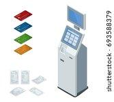 isometric set vector online... | Shutterstock .eps vector #693588379