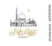eid al adha mubarak... | Shutterstock .eps vector #693594544