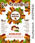 autumn sale poster of price... | Shutterstock .eps vector #693599830