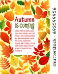 autumn is coming poster...   Shutterstock .eps vector #693599956