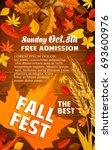 fall harvest festival banner... | Shutterstock .eps vector #693600976