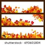 autumn leaf  forest mushroom... | Shutterstock .eps vector #693601804