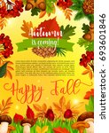 autumn season banner template... | Shutterstock .eps vector #693601846