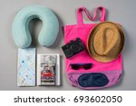 mock up of summer traveling... | Shutterstock . vector #693602050