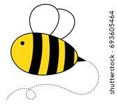 cute cartoon honey bee | Shutterstock .eps vector #693605464