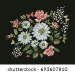 embroidery design. raster... | Shutterstock . vector #693607810