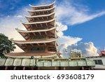 vietnam quoc tu pagoda   seven...   Shutterstock . vector #693608179