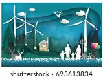 eco   earth day and world... | Shutterstock .eps vector #693613834
