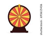 wheel of fortune gambling... | Shutterstock .eps vector #693615436