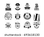 my congratulations to you.... | Shutterstock .eps vector #693618130