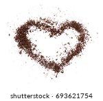 crude dark coffee bean or cocoa ... | Shutterstock . vector #693621754