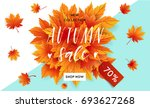 autumn sale flyer template with ...   Shutterstock .eps vector #693627268