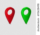 the pointer for the location on ... | Shutterstock .eps vector #693628498