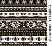 black and white tribal vector... | Shutterstock .eps vector #693628876