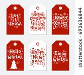 christmas and new year gift... | Shutterstock .eps vector #693636844