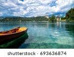lake bled  slovenia  europe.... | Shutterstock . vector #693636874