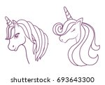 magical unicorns design  | Shutterstock .eps vector #693643300