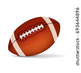 american football isolated on...   Shutterstock .eps vector #693644896