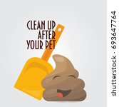 clean up after your pet vector... | Shutterstock .eps vector #693647764