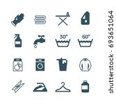 housework and laundry icon.... | Shutterstock . vector #693651064