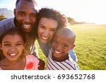 portrait of a smiling black... | Shutterstock . vector #693652768