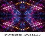 3d render  colorful neon lights ... | Shutterstock . vector #693653110