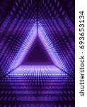 3d render  neon lights  blue... | Shutterstock . vector #693653134