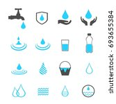 water icons set vector | Shutterstock .eps vector #693655384