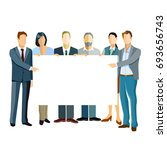 group of business people... | Shutterstock . vector #693656743