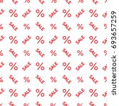 sale discount pattern red and... | Shutterstock .eps vector #693657259