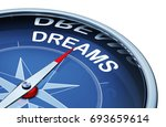 3d rendering of an compass with ... | Shutterstock . vector #693659614