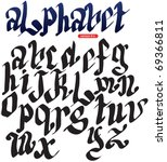 gothic alphabet | Shutterstock .eps vector #69366811
