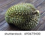 durian  no backgrond | Shutterstock . vector #693675430