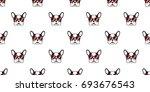 dog. french bulldog. heart... | Shutterstock .eps vector #693676543