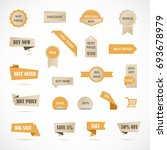 vector stickers  price tag ... | Shutterstock .eps vector #693678979