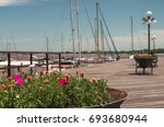 flowers of the port of colonia  ... | Shutterstock . vector #693680944