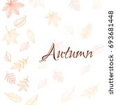 autumn leaves background. hand...